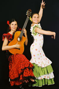 spaanse muziek flamenco show